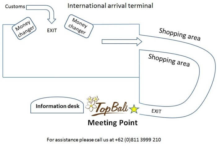 Bali airport transfer meeting point